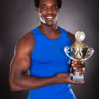 African Man With Trophy — Foto Stock