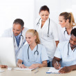 Stock Photo: Group Of Doctors Working Together