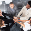 Stock Photo: Multiracial Businesspeople Stacking Hands
