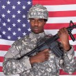 Stock Photo: Portrait Of American Soldier