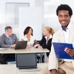 Portrait Of Happy African Businessman — Stock Photo