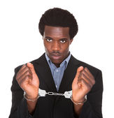 Arrested Man With Handcuffed Hands — Stock Photo