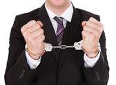 Portrait of criminal businessman — Stock Photo