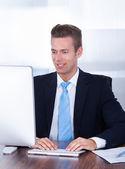 Businessman Using Computer — Stock Photo