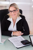Businesswoman Working In Office — Stock fotografie