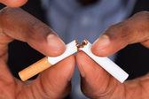 Breaking A Cigarette — Stock Photo