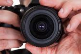 Photographer capturing photograph — Stock Photo