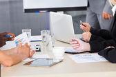 Företagare vid mötet — Stockfoto