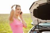Breakdown With Car — Stock Photo