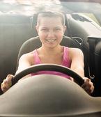 Happy Woman In Car — Stock Photo