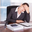 Young Businesswoman Suffering From Headache — Stock Photo