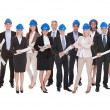 Stock Photo: Group Of Architects With Blue Print