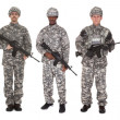 Group Of Soldier With Rifle — Stock Photo