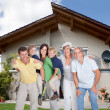 Multi-generation Family In Front Of House — Stock Photo #31294921
