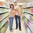 Senior Couple With Grocery Bag — Stock Photo #31294941