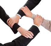 Businesspeople Hands Holding Each Other — Stock Photo