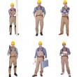 Group Of Workers With Equipment — Stock Photo