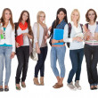 Multi Racial Of Group Of Students — Stock Photo