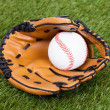 Leather Glove With Baseball Ball — Stock Photo