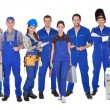 Group Of Industrial Workers — Stock Photo