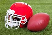 Football Helmet On Field — Stock Photo