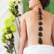 Woman Getting Lastone Massage — Stockfoto