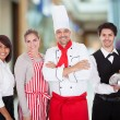 Group Of Restaurant Staff — Stockfoto
