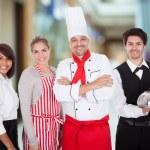 Groupe de personnel du restaurant — Photo