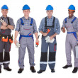 Stock Photo: Group Of Plumber With Tools