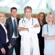 Businesspeople And Medical Workers — Stock Photo