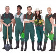 Group Of Gardener Workers — Stock Photo