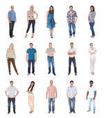 Group Of People Dressed In Casual — Stock Photo