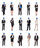 Group Of Business People Raising Arm — Stock Photo