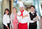 Group Of Restaurant Staff — Stock Photo