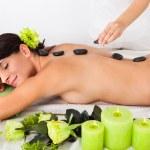 Woman Receiving Lastone Massage — Stock Photo #33101935