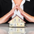 Businesswoman House Model — Stock Photo