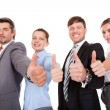 Businesspeople Showing Thumb Up — Stock Photo