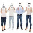 Stock Photo: Group Of A People Holding Smiley