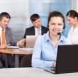 Customer care executive working  — Stock Photo