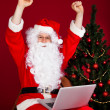 Portrait of excited santa — Stock Photo