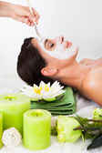 Woman Getting A Face Treatment — Stock Photo