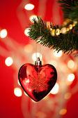 Chuchería en árbol de Navidad — Foto de Stock