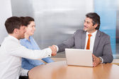 Consultant Shaking Hand With Man — Stock Photo