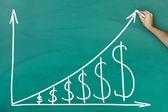 Dollar growth chart — Stock Photo
