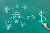 Convert ideas into cash concept — Stock Photo
