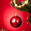 Close-up Of Red Decorative Bauble — Stock Photo