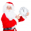 Santa Claus With Clock — Foto de Stock