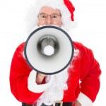 Portrait of santa shouting in megaphone — Stock Photo #34690409