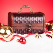 Christmas Bauble With Treasure Box — Stock Photo #34690433