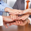 Stock Photo: Businesspeople Stacking Hands